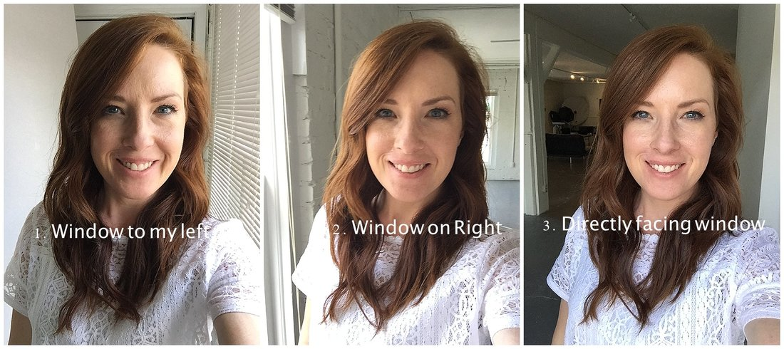 how to use window light to take better selfie